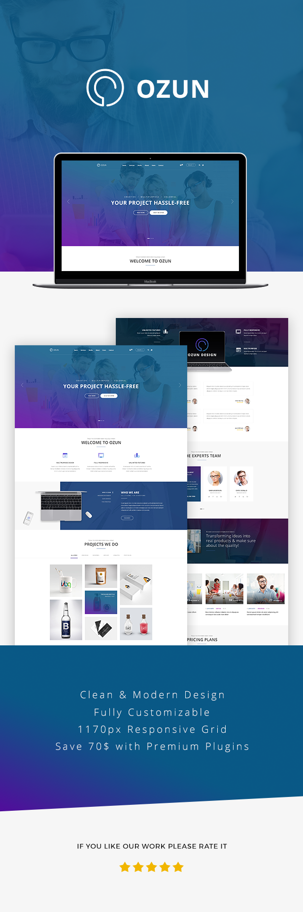 OZUN - Creative and Multipurpose WP Theme - 6  Download OZUN – Creative and Multipurpose WP Theme nulled 1